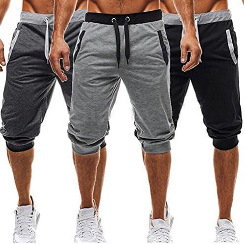 usgreatgorgeous pantalones cortos de entrenamiento Jogger Sport Casual Cintura Elástica Harén Pantalones