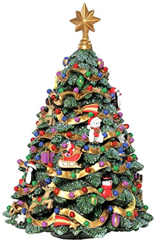 (The San Francisco Music Box Company Jingle Bell Rotating Christmas Tree Figurine)