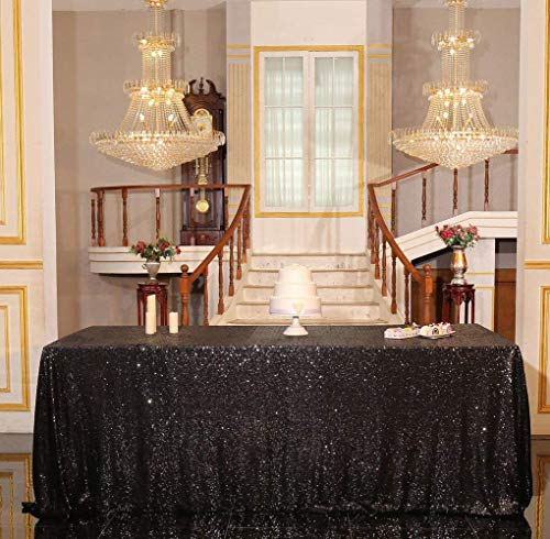 (PartyDelight Sequin Tablecloth, Wedding, Sweetheart, Christmas Tree, Rectangular, 48