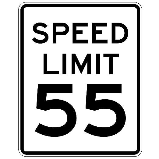 MUTCD R2-1 Speed Limit Sign, Customizable Speed Limit Sign, 3830 TX 3M Sheeting / .080 Rust Free Aluminum, 18