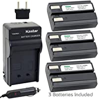 Kastar EN-EL1 Battery (3-Pack) and Charger Kit for Nikon ENEL1, Minota NP-800 and Nikon Cooipix 4300 4500 4800 5400 5700 775 8700 880 885 995 Coolpix E880 and Konica Minota DG-5W Dimage A200 Cameras