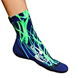 Sand Socks for Soccer, Volleyball, Snorkeling (Youth/Adult) XX-Small Green Lightning