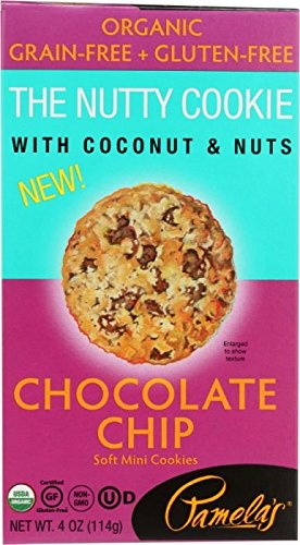 - Pamela's Gluten Free Organic Nutty Cookies, Chocolate Chip, 4 OZ
