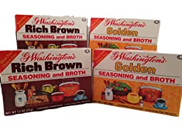 G Washington\'s Seasoning and Broth - Golden & Rich Brown Variety Pack - Meat & Gluten Free