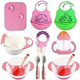 Amazon.com: Baby Feeding Set - Juego de babero y cuenco de ...