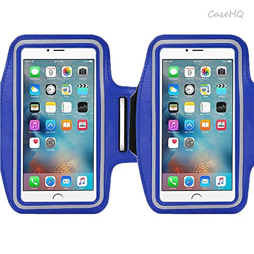 Ipod Nano Armband Reviews (Universal Sports Armband for Apple iPhone 7/7 Plus iPhone 6/6s Plus Samsung Galaxy S7/S6/S5 Sweatproof Running ArmBelt With Small Holder & Pouch for Keys Card 4.5 inch- 5.7 inch Screen)