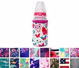 thermos infant sippy cup - Koverz for Kids - #1 Neoprene Baby Bottle/Sippy Cup Insulator Cooler Coolie - CHOOSE FROM 30+ STYLES! - Butterflies & Owls