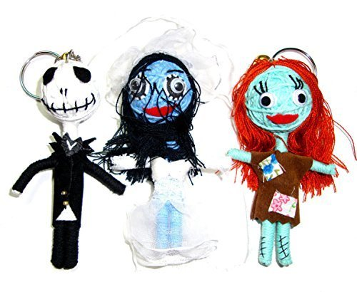Jack Skellington, Sally, Emily Corpse Bride Ragdoll Triple Mini String Doll Night Before Christmas by Goth (The Corpse Bride Emily)