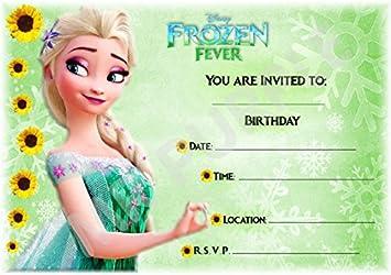 Disney Frozen Birthday Party Invites Elsa Sunflower Design