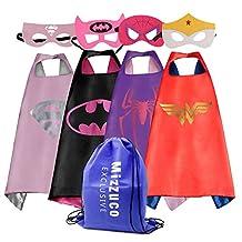 Mizzuco  Cartoon Dress Up Costume Satin Cape with Felt Mask for Girls-4pcs