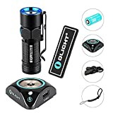 OLIGHT Bundle S10R III LED Flashlight Waterproof Rechargeable Pocket-Sized Torch for Camping and Hiking Super Bright 600 Lumen rcr123a Battery (16340) Patch