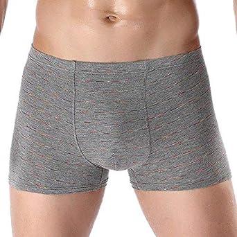 Lanceyy Pantalones Cortos De Boxer para Algodón Simple Estilo ...