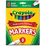 Crayola 8ct Broad Markers Bold