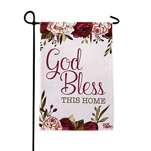 god bless home garden flag