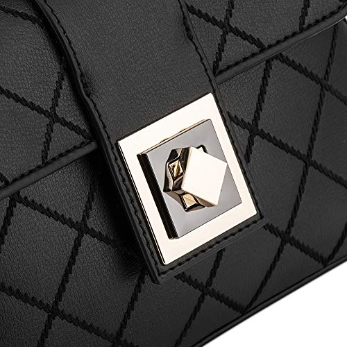 Leather Pure Lady for Hobo Handbag Crossbody Genuine Woman Leather Black Bag qXOXPwFR