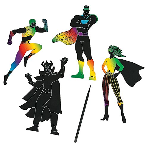 Fun Express Superhero Magic Scratch Shapes and Scratching