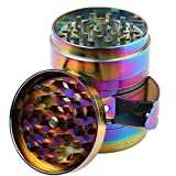 OSQUARE New Design Premium Zinc Alloy Colourful Rainbow Pollen Spice Tobacco Herb Grinder