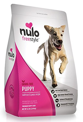 Nulo Puppy Food Grain Free Dry Food with BC30 Probiotic and DHA (Salmon and Peas Recipe, 4.5lb Bag) For Sale