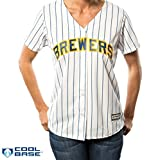 Milwaukee Brewers MLB Women's Cool Base Alternate Pinstripe Jersey (Medium)