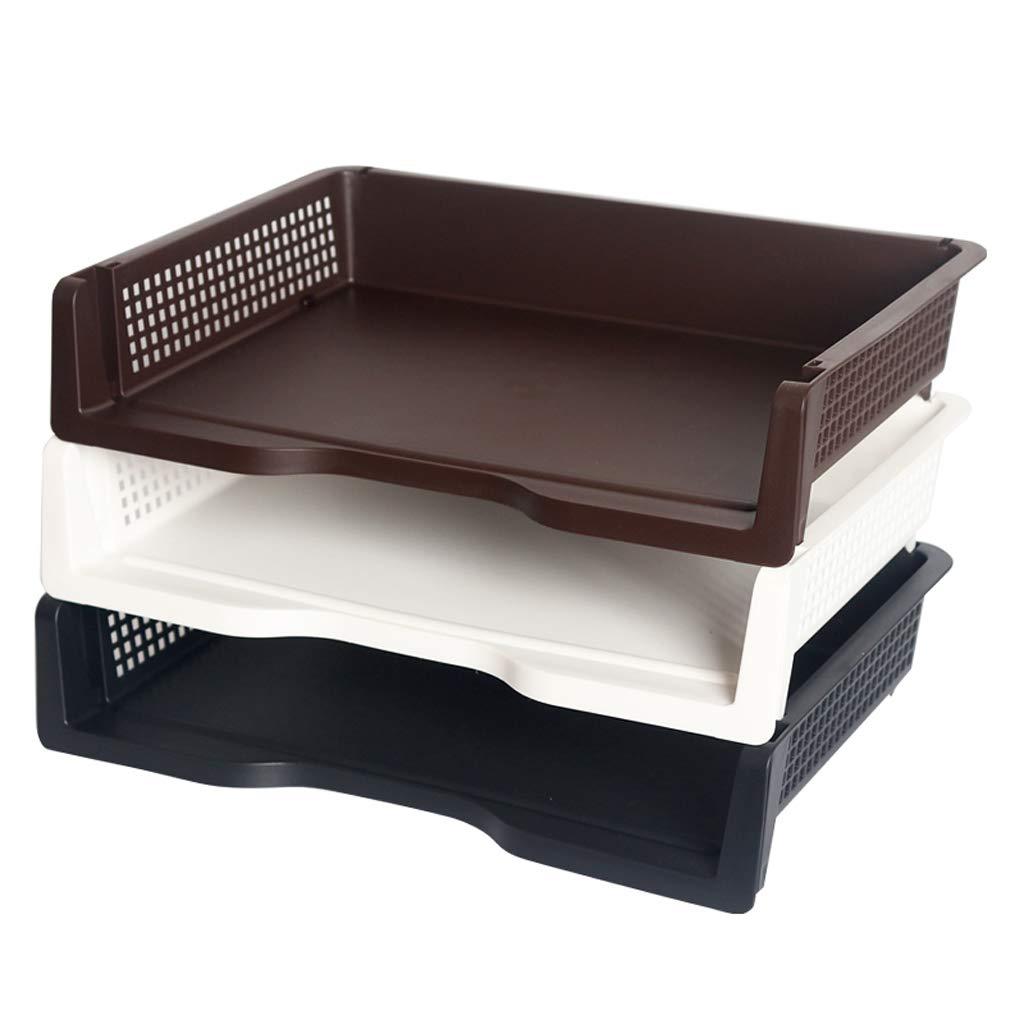 LCSHAN Gabinete de Archivo de Escritorio Clasificación de Almacenamiento Archivo Caja de Almacenamiento de Dormitorio de la Oficina Papelería Caja de Acabado (Color : Negro) 46c73a