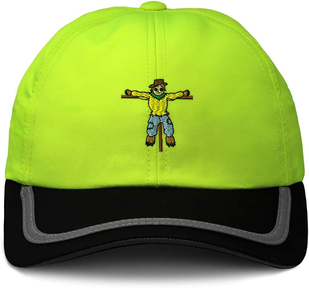 Custom Reflective Running Hat Scarecrow Full Body Style D Embroidery One Size