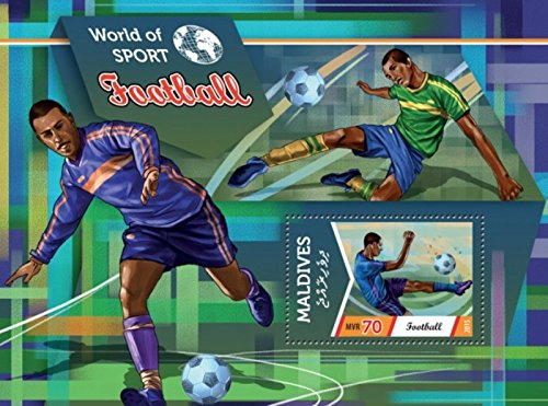 Withdrew 02-21-19-Maldives - 2015 Football on Stamps - Stamp Souvenir Sheet - 13E-308