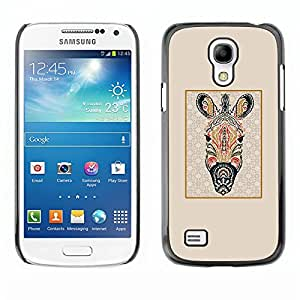 TopCaseStore / la caja del caucho duro de la cubierta de protección de la piel - Zebra Psychedelic Africa Animal Pattern - Samsung Galaxy S4 Mini i9190 MINI VERSION!