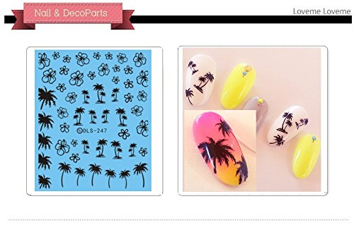 Nail Art Water Transfer Stickers Palm tree - DLS247 Nail Sticker Tattoo - FashionDancing - Palm Tree Nail Art