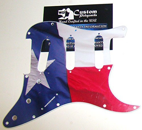 TEXAS LONE STAR STATE FLAG PICKGUARD FOR FENDER STRAT, HAND CRAFTED IN USA