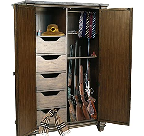 Mirror Gun Cabinet Armoire His U0026 Hers (Made In The ...