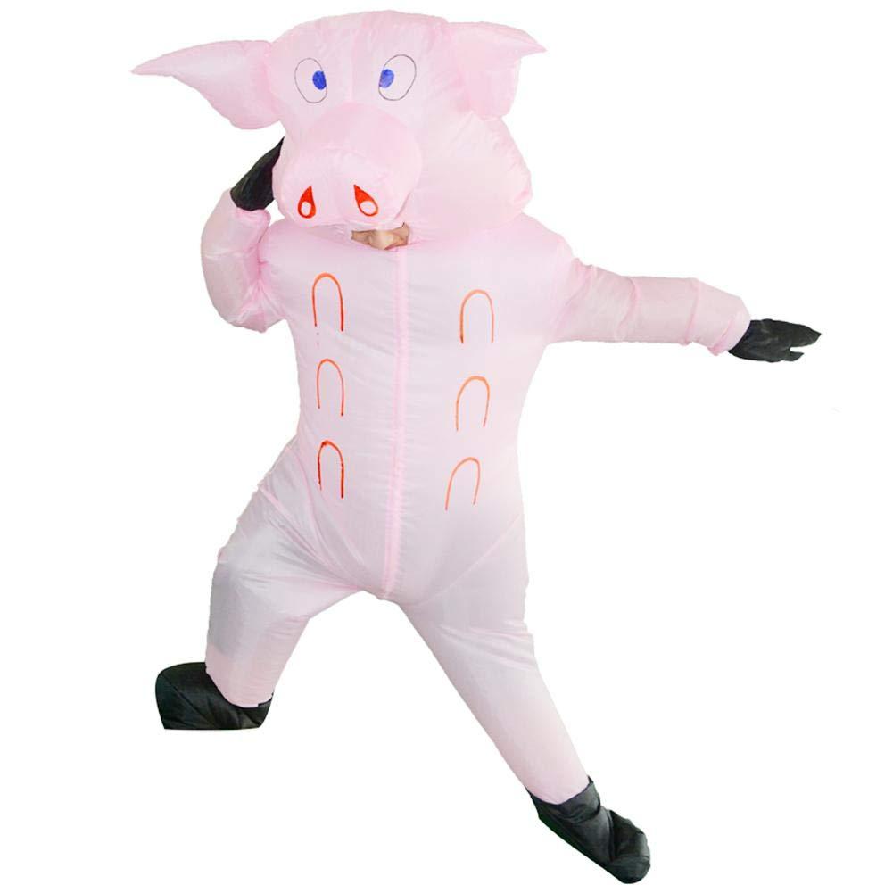 GLOBEAGLE Lindo Disfraz Inflable de Cerdo para Adultos ...