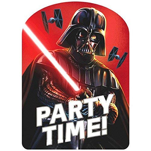 Amscan 490156 Darth Vader Party Invites   Pack of 8, Multicolor -