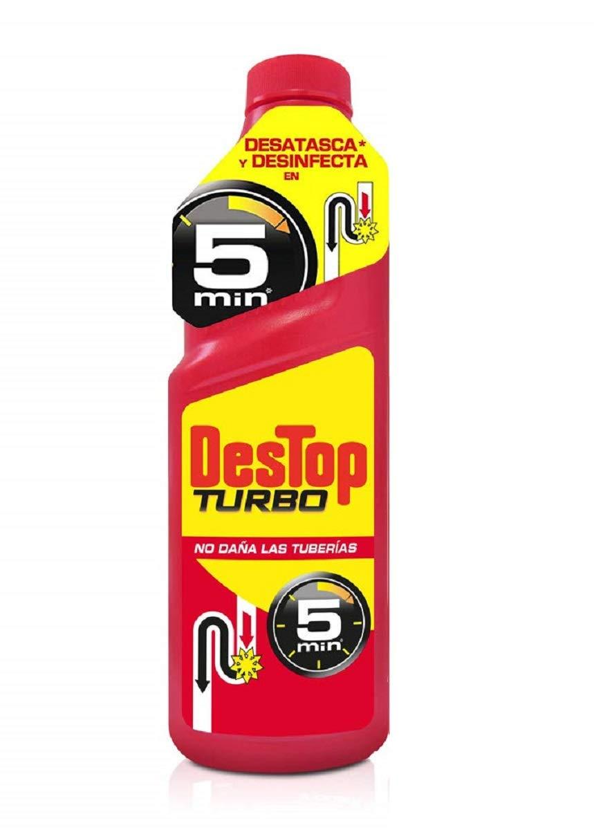 Destop Turbo - Desatascador Tuberías Potente Formato Gel, 2 usos ...