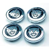 BENZEE 4pcs W145 60mm Emblem Badge Sticker Wheel Hub Caps Center Cover JAGUAR XF XJ XJS XK S-TYPE X-TYPE