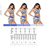 Vision&Susan Womens Yoga Sports Bra Printing Strappy Cross Back Wirefree Plus Size Bra