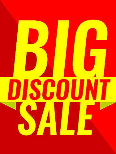 Big Discount Sale Business Retail Display Sign, 18