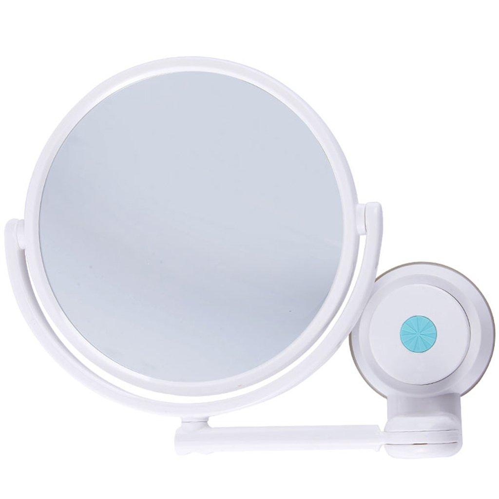 WURE Espejo de Maquillaje montado en la Pared Espejo de Baño Plegable Espejo de plástico Giratorio 360 ° Espejo de plástico AICN
