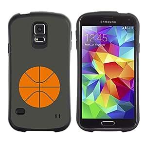 Suave TPU GEL Carcasa Funda Silicona Blando Estuche Caso de protección (para) Samsung Galaxy S5 / CECELL Phone case / / Basketball Orange Minimalist Sport /