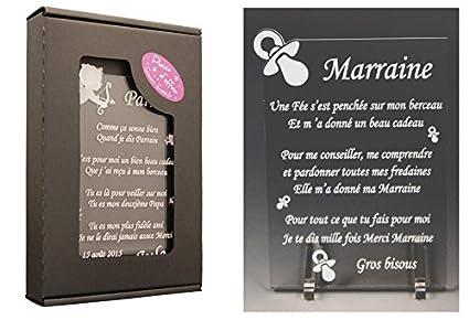 1 Poème Marraine Tototte Spécialiste Des Cadeaux Parrain Marraine Baptême