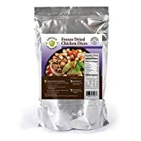 Freeze Dried Chicken Supply: Emergency Food Storage Chicken Dices - Survival Prepper Meat / Camping / Hiking / RV / Fishing