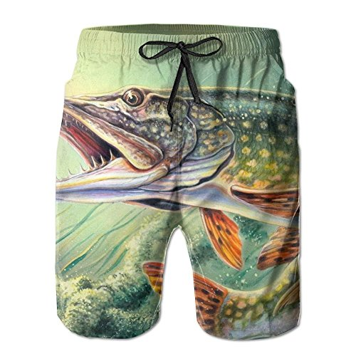 Fishing Lure Elastic Mens Boardshorts Swim Trunks Persionality Men Tropical Running Workout Board Shorts by 2018 pants