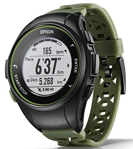 [엡손 리스 탭 루지피에스 ]EPSON WristableGPS 손목시계 GPS런닝 워치 맥박 계측 J-50K
