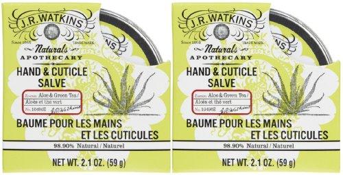 J. R. Watkins Hand & Cuticle Salve - Aloe & Green Tea - 2.1 oz - 2 pk by J.R. Watkins