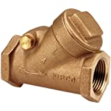 "NIBCO T-413-Y Cast Bronze Check Valve, Silent Check, Class 125, PTFE Seat, 2"" Female NPT Thread (FIPT)"