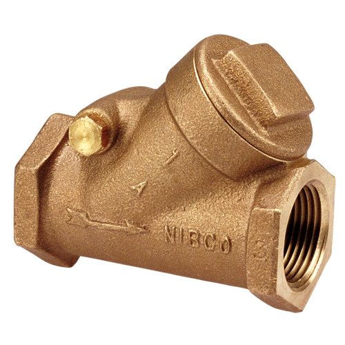 NIBCO T-413-Y-LF Silicon Bronze Lead-Free Check Valve, Horizontal Swing, Class 125, PTFE Seat, 1/2