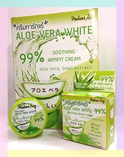 Cream Armpit Elbow Knee Whitening Smooth Lightening Underarm Aloe Vera 99% 5 Gram Within 7 Days (Lightening Reviews Cream Skin)