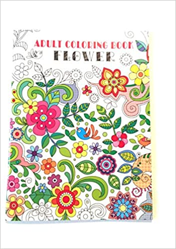 Adult Coloring Book Flowers Vision St 0814625015857 Amazon Books