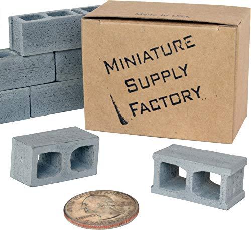12 Mini Cinder Block, 1/12 Scale Miniature Blocks, Diorama Supplies, Desk Accessories, Birthday Gifts for - Miniature Cinder Block