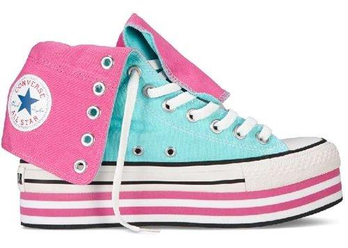 Converse Sneaker Hi Ct Platform Xhi rosa/himmelblau