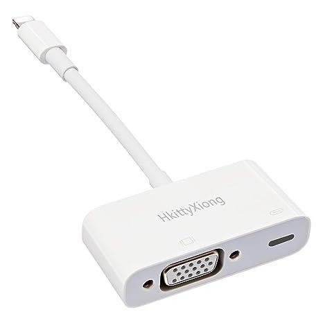 HkittyXiong - Adaptador AV Digital VGA Compatible con iPhone, iPad ...